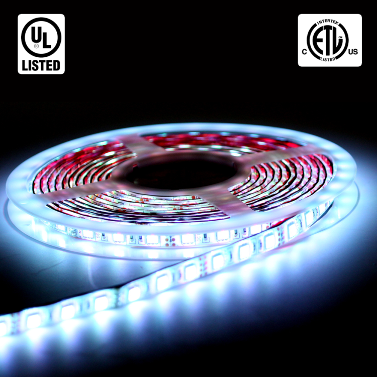 RGB LED Strip Lights  Waterproof  DIY Kit  5m  IP65 rated
