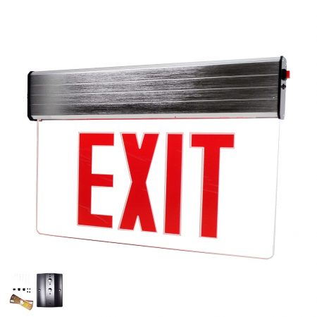 Exit Sign Light LED Red Letters