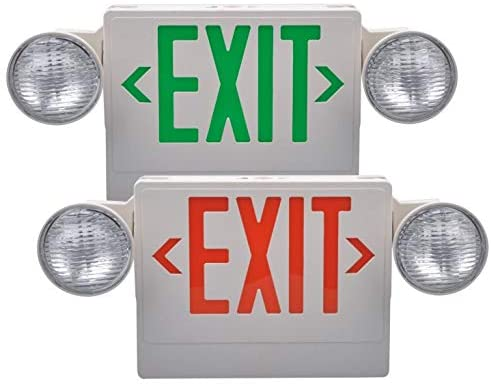 Exit light with 2 led